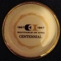 4 Coaster Set from Equitable of Iowa Centennial 1867-1967