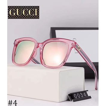 GUCCI double G logo men and women polarized sunglasses UV protection sunglassesF-XBC #4