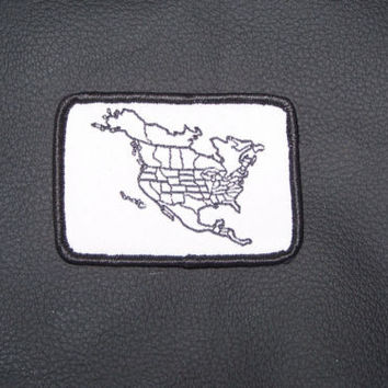 America map to fill countries traveled map marker patch