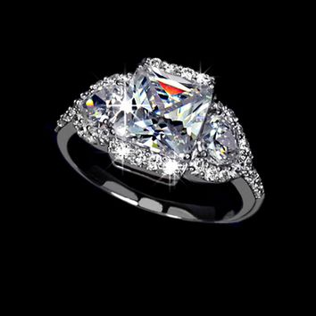 4ct Swiss Cubic Zirconia Diamond Ring