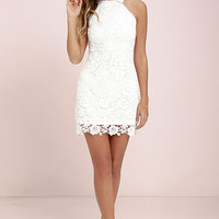 Love Poem Ivory Lace Dress