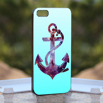 Anchor Nebula On Blue Mean - Design available for iPhone 4 / 4S and iPhone 5 Case - black, white and clear cases