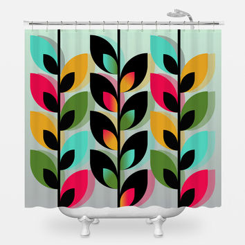 Joyful Plants III Shower Curtain