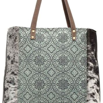 Myra Bag Floral Chic Up-cycled Canvas Tote S-0933
