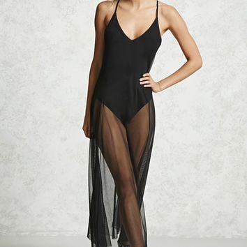 Sheer Mesh Combo Bodysuit