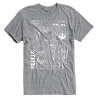 Star Wars Rogue One K-2SO Schematic T-Shirt
