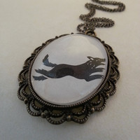 Game of Thrones House Stark Direwolf Sigil Necklace