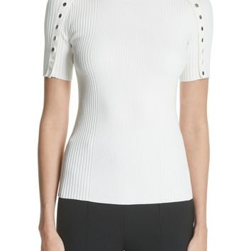 Alexander Wang Snap Sleeve Top | Nordstrom