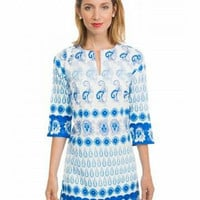 Cotton Paisley Tunic/ Compare To Lilly Pulitzer