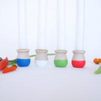 Wooden Candle Cup {set of 4}, Fun in the Sun