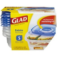 Glad Food Storage Containers, Entree, 25 Ounce, 5 Count - Walmart.com