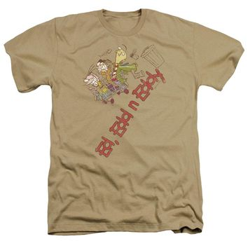 Ed Edd N Eddy - Downhill Adult Heather Officially Licensed T-Shirt Short Sleeve Shirt
