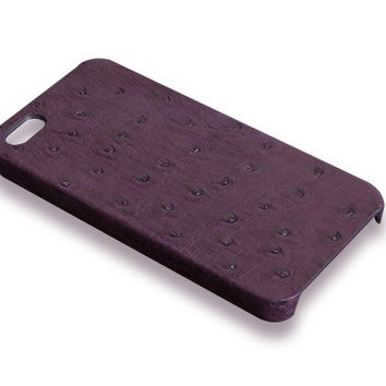 iPhone 5S case - violet ostrich