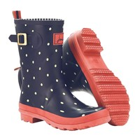 Navy Mollywelly Women's Mid-Height Rain Boot Wellies | Joules US