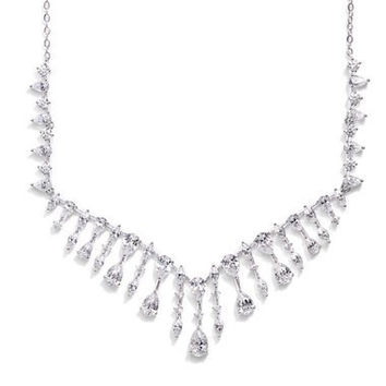 'Audrey' Cubic Zirconia Frontal Necklace