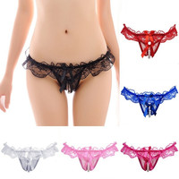 Sexy Ladies Lace G-String Lingerie Underwear Briefs Open Crotch Thongs Fashion = 1932482884
