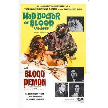 Mad Doctor Of Blood Movie poster Metal Sign Wall Art 8in x 12in