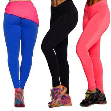 New High Waist Tights Leggings Fitness Women YOGA Sport Tights Running Pants = 1932761220