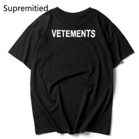 VETEMENTS OVERSIZE T-Shirts men supremitied tees hip hop  Summer 100% cotton High Quality STAFF vetements tops palace T-Shirts