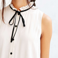 Cooperative High-Neck Ruffle Tank - Urban Outfitters