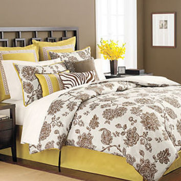 Martha Stewart Collection Bedding, Rose Charmont 9 Piece Comforter Set - SALE & CLOSEOUTS - Bed & Bath - Macy's