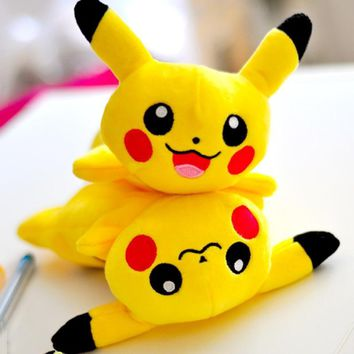 Kawaii Plush Pikachu pencil case Cartoon Bts  pencil bag for kids toy gift Korean stationery pouch Office school suppliesKawaii Pokemon go  AT_89_9