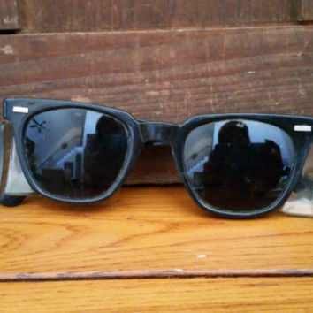 Vintage Black Safety Sun Glasses Vintage Eyewear