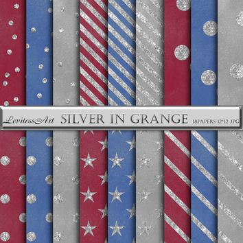 "Digital Paper ""Silver in grange"" digital background for scrapbooking, invites, cards,web design,jewelry making.Instant Download"