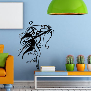 Wall Vinyl Decal Sticker Skeleton Archer Fantasy Zodiac Art Design Room picture elegancy hall wall Chu1049