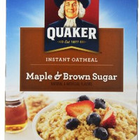 Quaker Instant Oatmeal, Maple Brown Sugar Value Pack, Breakfast Cereal, 18 Packets Per Box 27.3oz (Pack of 4)