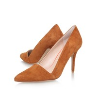 ABLE Tan High Heel Court Shoes by Carvela Kurt Geiger | Kurt Geiger
