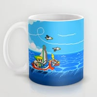The Legend of Zelda: Wind Waker Advance Mug by Dean Bottino