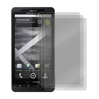 Fosmon Transparent Clear Screen Protector for Motorola Droid X MB810 with Lint Cleaning Cloth, 3 Packs