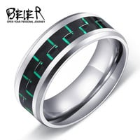 316L Stainless Steel Fashion Man's Ring Titanium Steel Unique 2016 Trendy Jewelry For Men High Quality Wedding Band