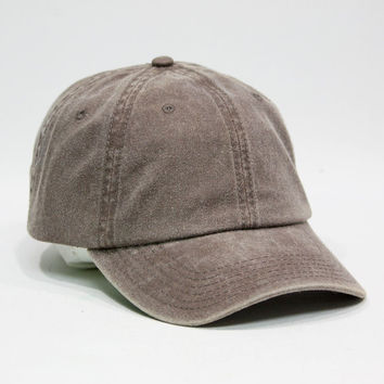 Cute Plain Washed Cotton Twill Baseball Cap with Adjustable Velcro