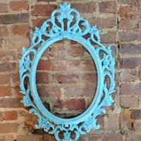 Painted & distressed frame