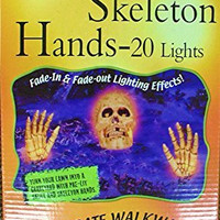 Halloween Decoration Skull and Hands Set 20 Lights