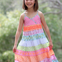 Bunnies Picnic - Mimi & Maggie Bright Bohemian Pool Sundress - Girls Boutique Clothes
