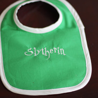 Harry Potter Baby Embroidered Green and White by geekbabystitching
