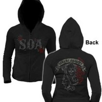 Sons Of Anarchy Reaper Roses Women's Hoodie