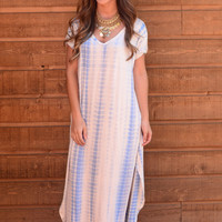 Limitless Maxi Dress - Sky Blue Tie Dye
