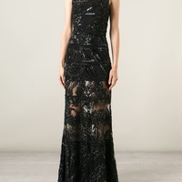 Elie Saab Beaded Embellished Sheer Gown - Tiziana Fausti - Farfetch.com