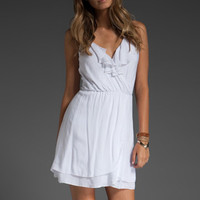 INDAH Molly Ruffle Front Dress in White at Revolve Clothing - Free Shipping!