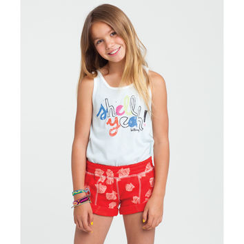 Billabong Girls' Shell Shaka Short Rio Red