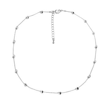 Simple Oval Ball Chain Choker Necklace