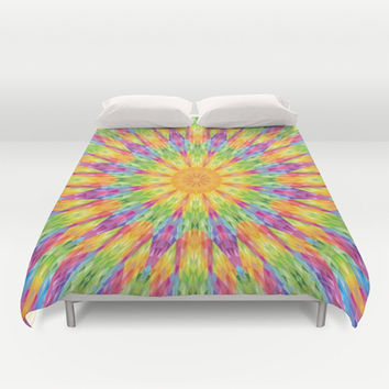 Colorful Rainbow Crystals Duvet Cover by 2sweet4words Designs