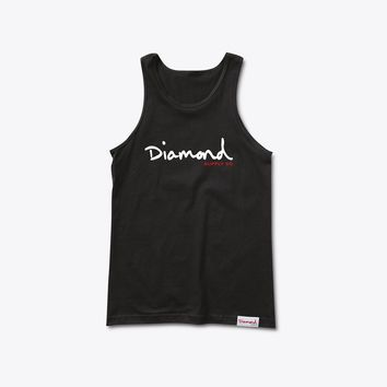 Diamond Supply Co OG Script Tank Top in Black