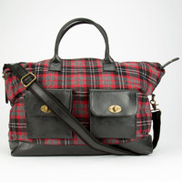 Flannel Duffle Bag Red Combo One Size For Women 24853034901
