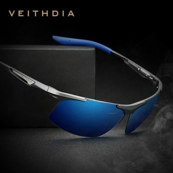 VEITHDIA Brand Summer New Aluminum Rimless Mens Polarized Sunglasses Sun Glasses Eyewear oculos de sol masculino For Men VT6562