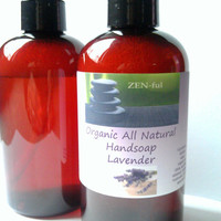 Organic Hand Soap Lavender All Natural, Vegan Liquid Hand Soap Lavender, Lavender Hand Soap 8oz
